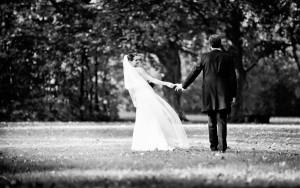 Braut und Bräutigam