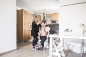 Vorbereitung Bräutigam Tilt und Shift