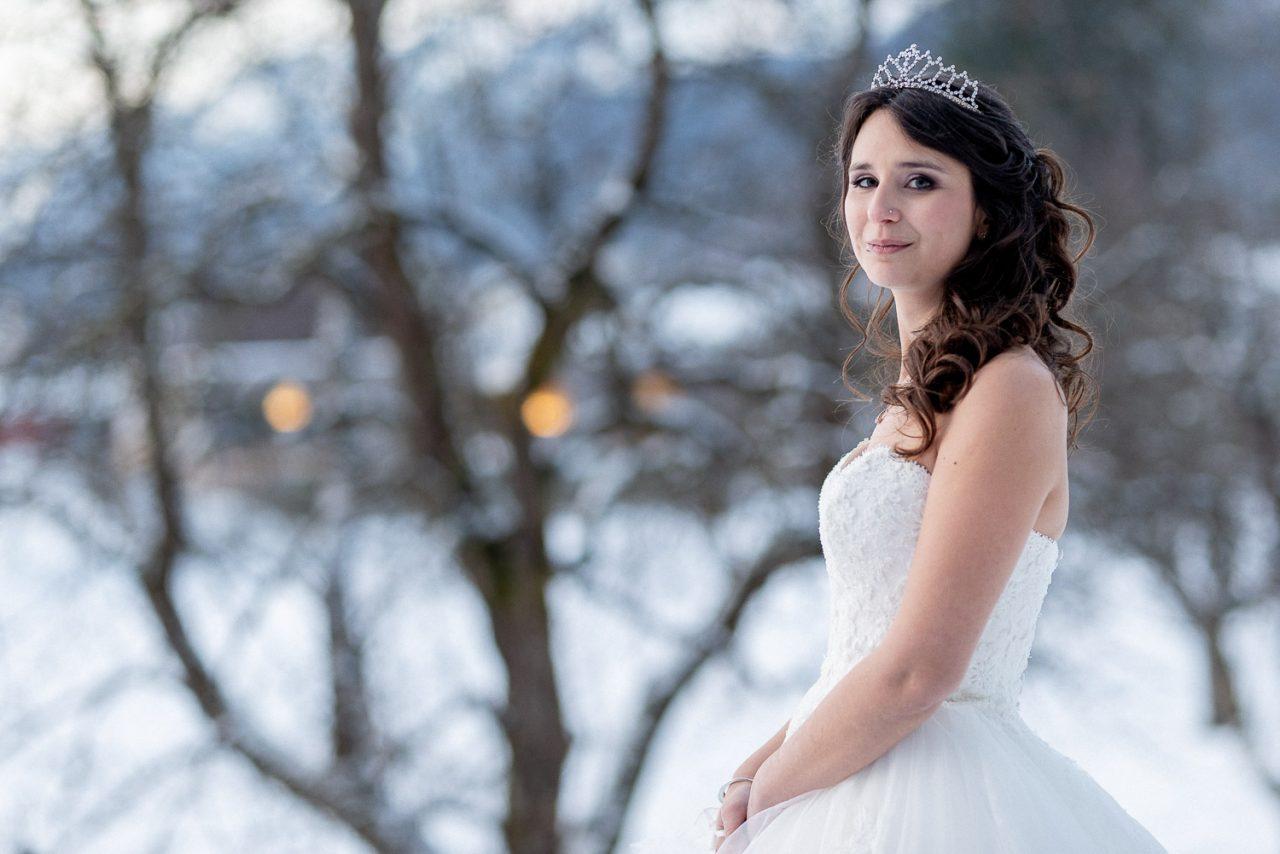 Braut im Winter